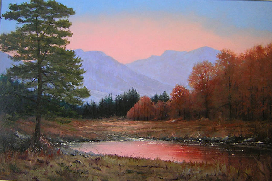 Landscape Painting - 051116-3020     First Light Of Day   by Kenneth Shanika