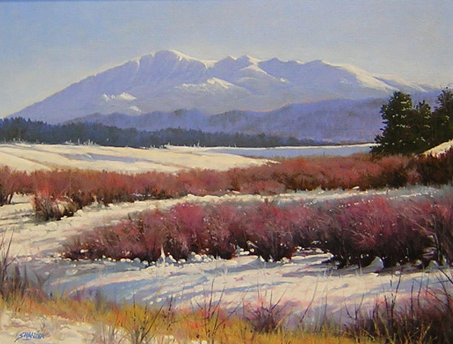 Landscape Painting - 051209-1814  Pikes Peak - North View by Kenneth Shanika