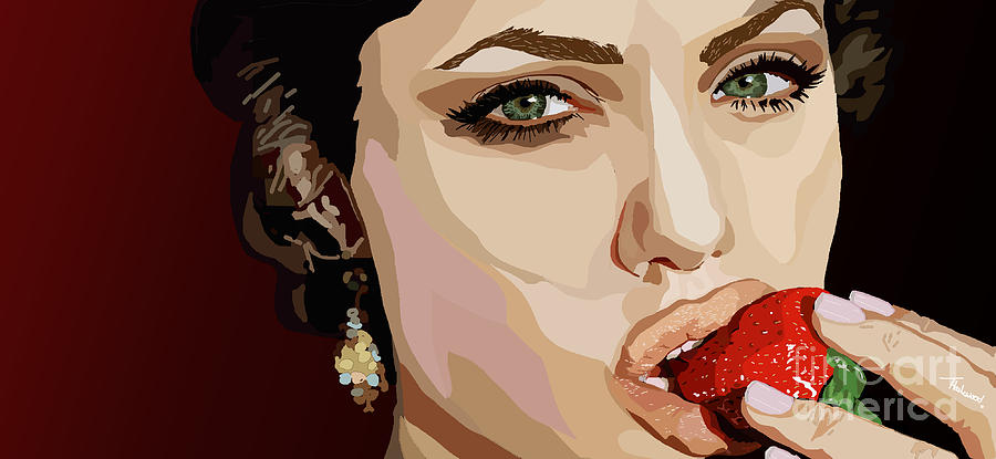 Tv Show Painting - 053. Never Send A Boy To Do A Womans Job by Tam Hazlewood
