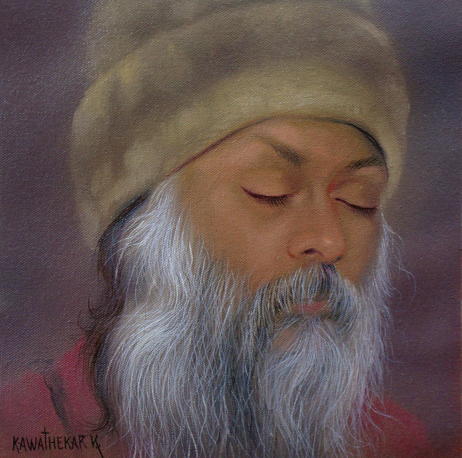 06 Osho Painting by Vijay Kawathekar