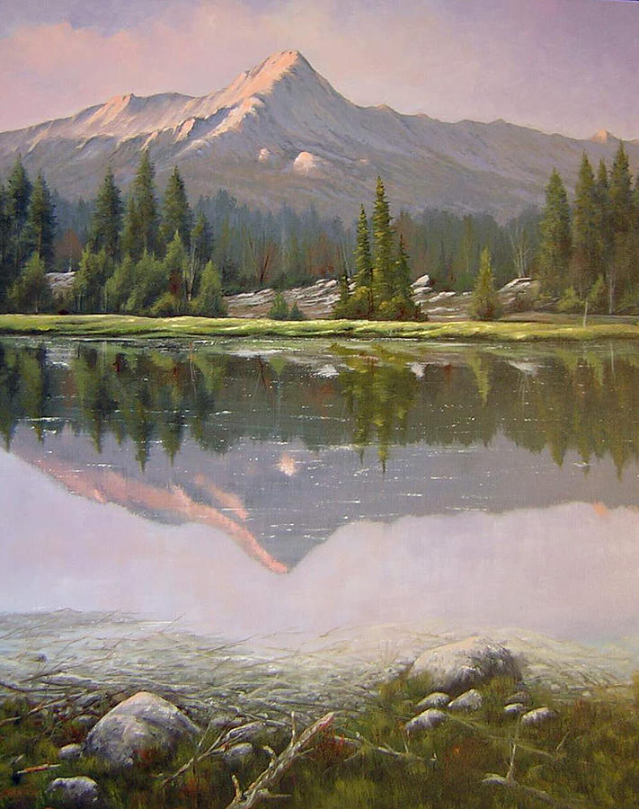 Landscape Painting - 060923-2430  Reflections At Days End   by Kenneth Shanika