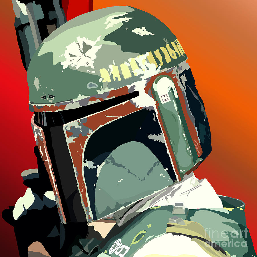 Bobba Fett Painting - 067. Hes No Good To Me Dead by Tam Hazlewood