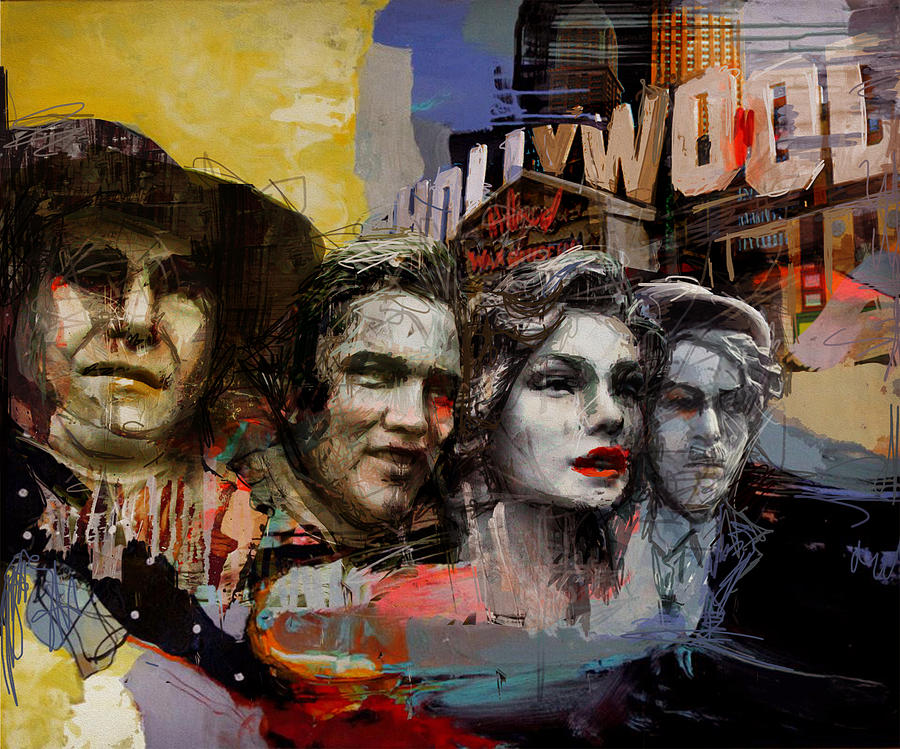 Los Angeles Painting - 074 Hollywood Wax Museum by Maryam Mughal