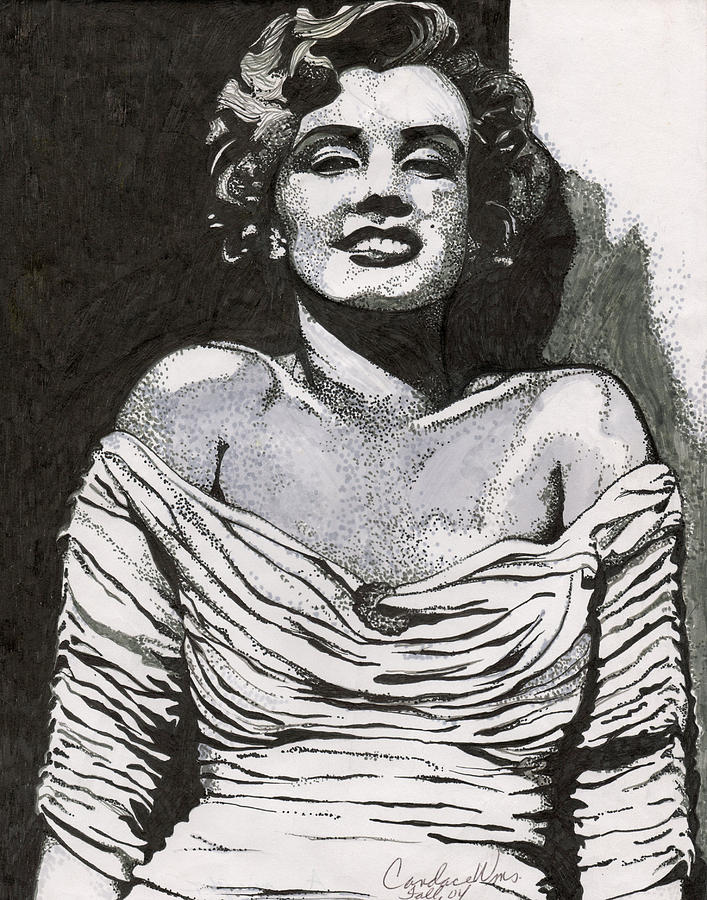 Marilyn Monroe Mixed Media - 080 by Candace Williams