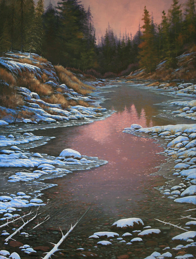 Landscape Painting - 080210-3040 Early Morning Light - Winter by Kenneth Shanika