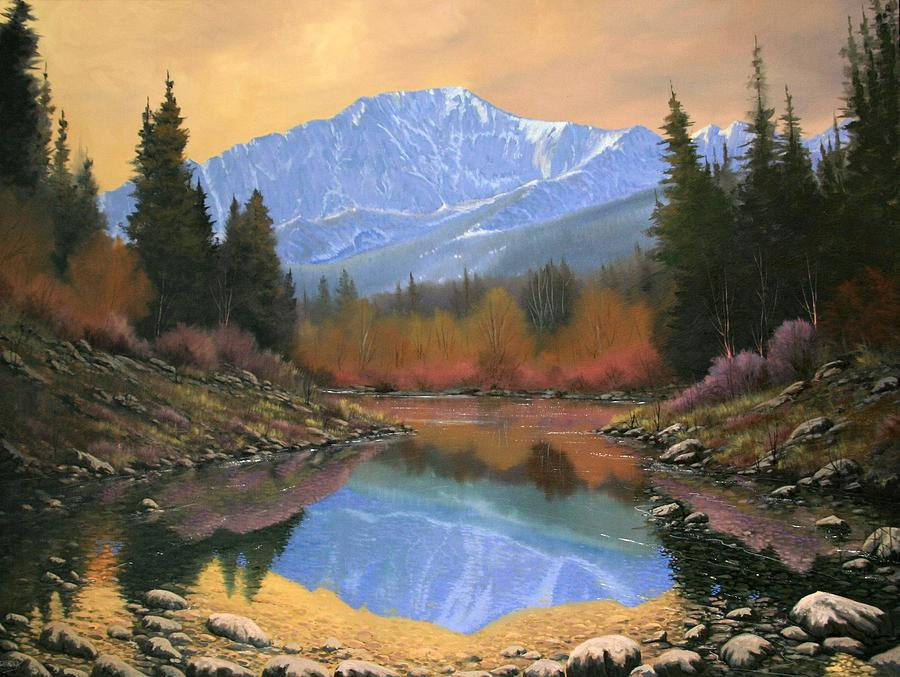 Landscape Painting - 080220-4030 In All Its Glory - Pikes Peak by Kenneth Shanika