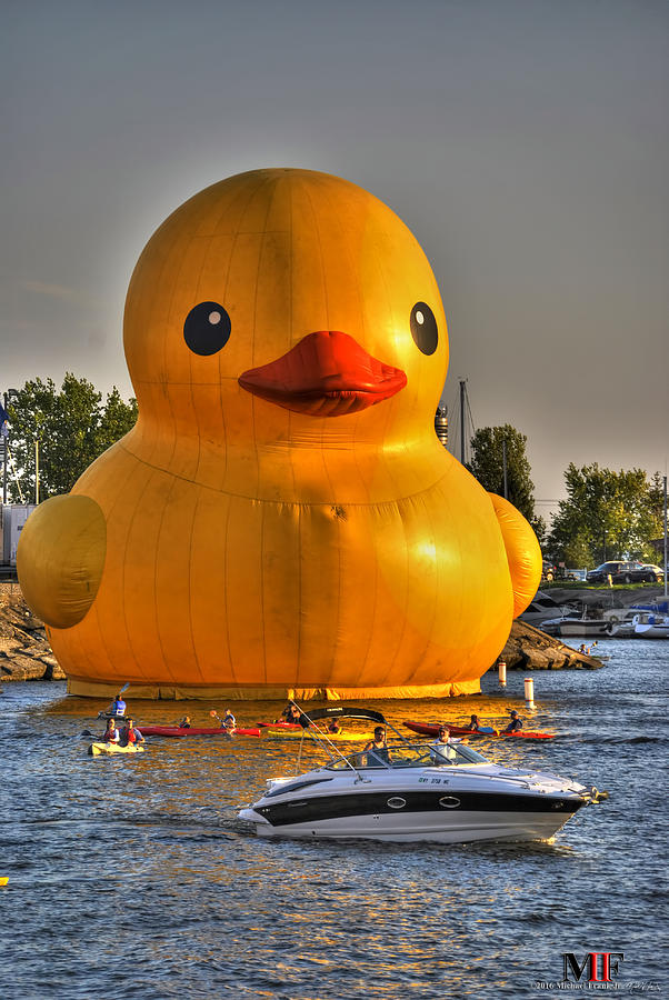 09 Worlds Largest Rubber Duck At Canalside 2016 Photograph by ...