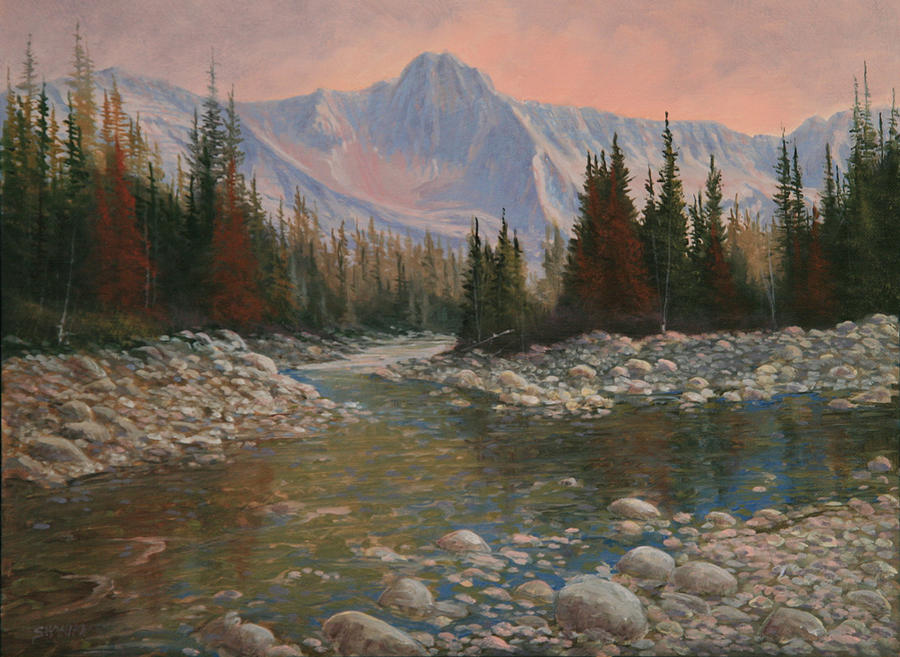 Landscape Painting - 090504-1216   Rocky Creek by Kenneth Shanika