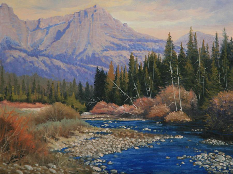 Landscape Painting - 091019-912  Wandering Toward Sundown by Kenneth Shanika