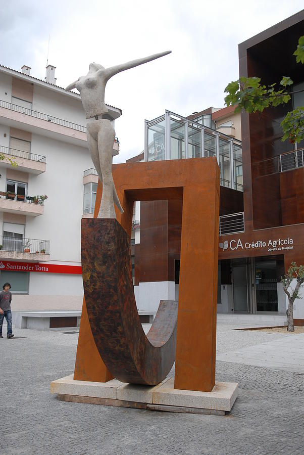 0n The Other Side Of The Portal Sculpture by Luis Queimadela