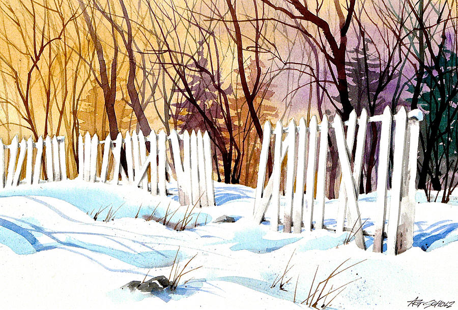 Snow Painting -   Fenced In Frost by Art Scholz