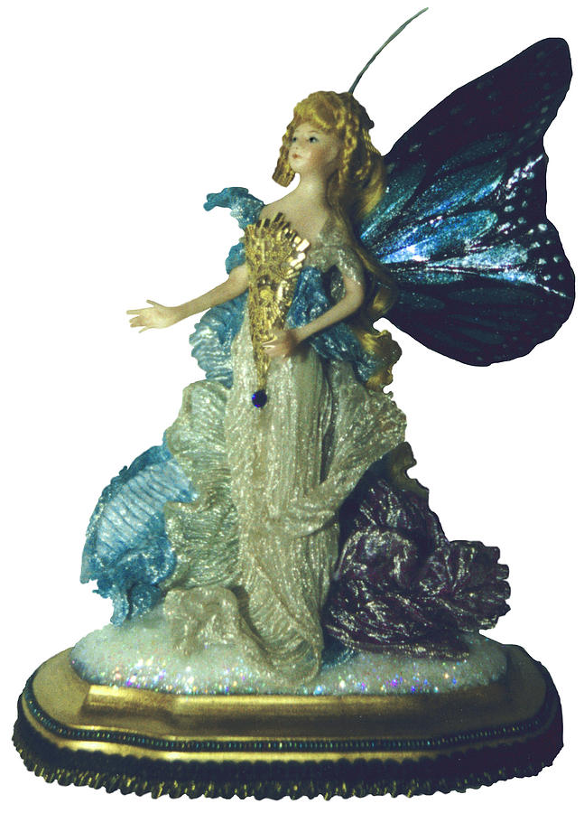 Fairy Ceramic Art - 01md076-madame Butterfly by Shirley Heyn