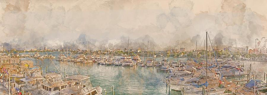 10879 Clearwater Marina Digital Art