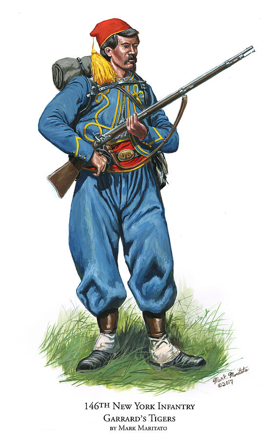 146th New York Infantry - Garrards Tigers Painting