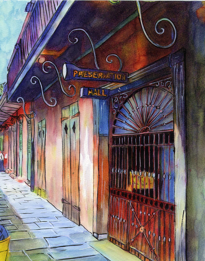 New Orleans Painting - 16  Preservation Hall by John Boles