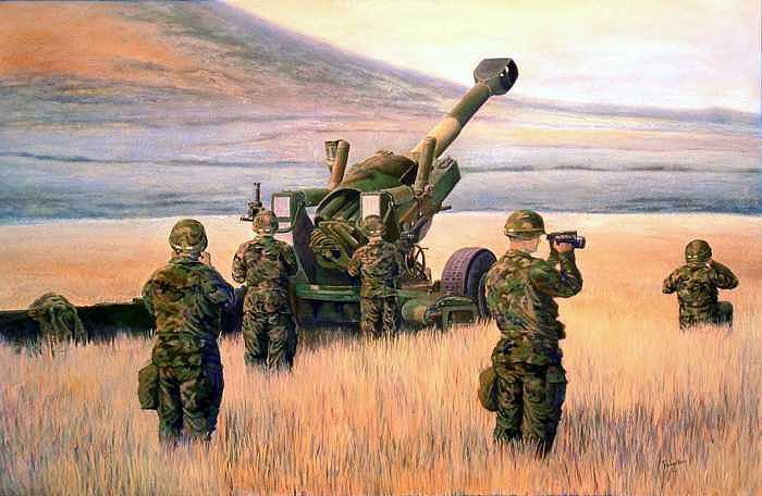 1-190th Artillery Print by Scott Robertson