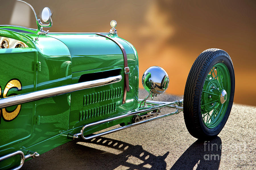 Auto Photograph - 1926 Ford Model T dry Lakes Roadster Vii by Dave Koontz