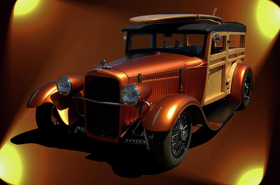 1929 Photograph - 1929 Ford Model A Woody by Tim McCullough