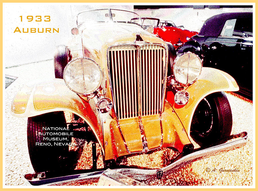 Car Digital Art - 1933 Auburn Classic Automobile by A Gurmankin