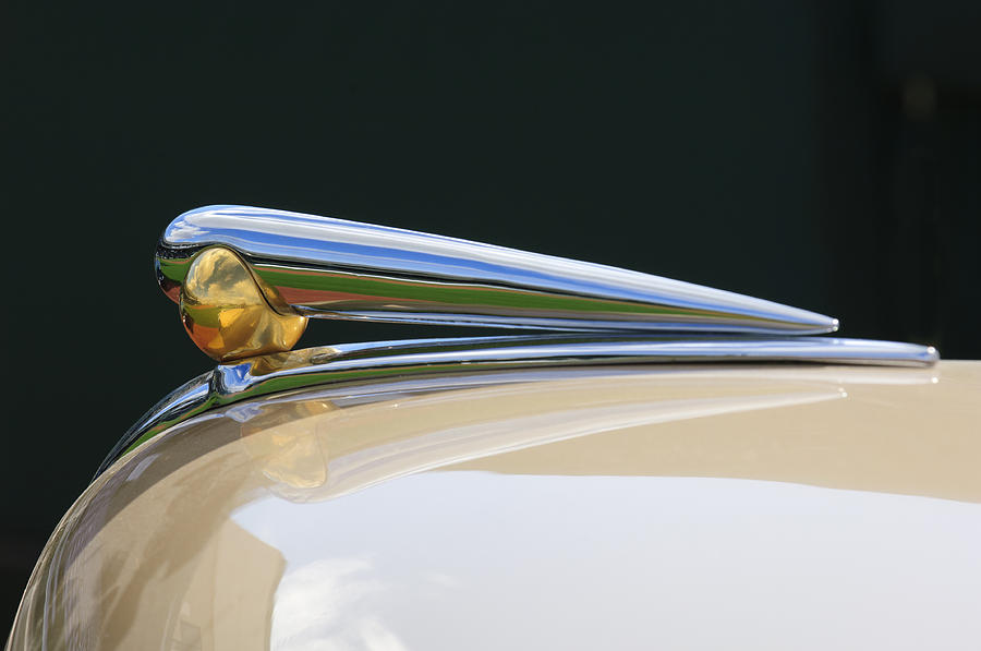 1941 Lincoln Continental Photograph - 1941 Lincoln Continental Hood Ornament 2 by Jill Reger
