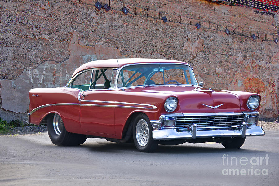 1956 Chevrolet Bel Air Pro Street Photograph By Dave Koontz