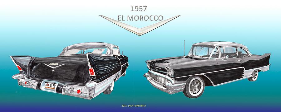 Chevrolet El Morocco Hard Top Painting by Jack Pumphrey