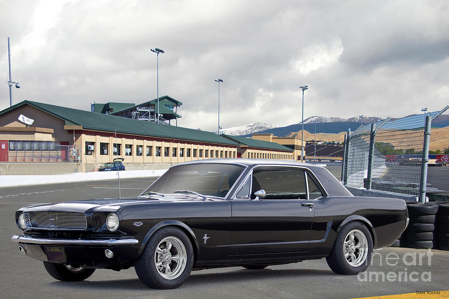 Automobile Photograph - 1966 Ford Mustang Coupe II by Dave Koontz