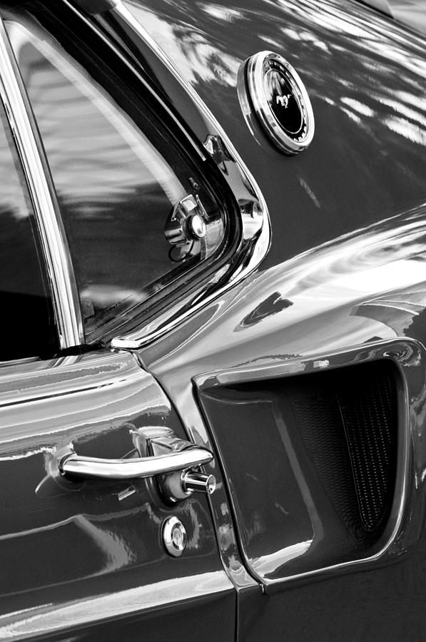 Muscle Car Photograph - 1969 Ford Mustang Mach 1 Side Scoop by Jill Reger