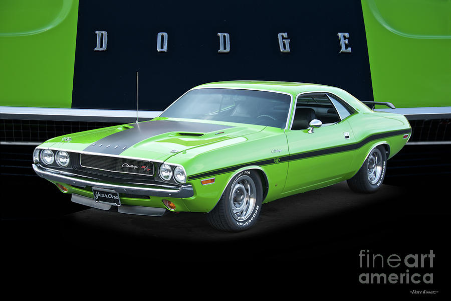 Automobile Photograph - 1970 Dodge Challenger RT I by Dave Koontz