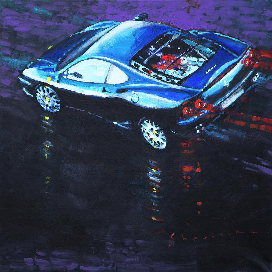 Oil On Canvas Painting - 2003 Ferrari 360 Challenge  by Yuriy Shevchuk