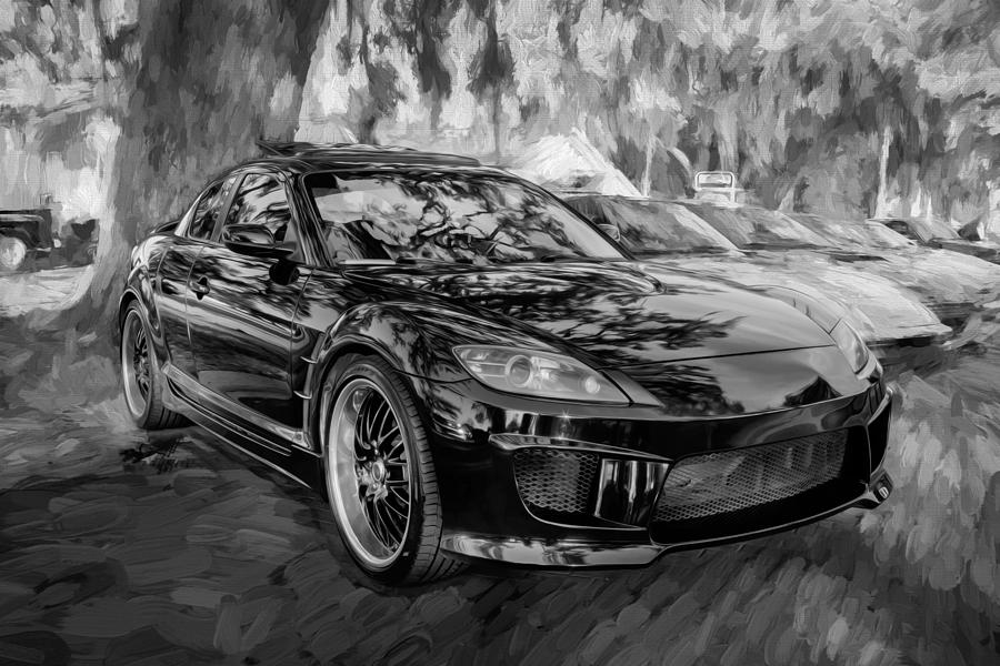 2008 Mazda Rx8 Painted Bw by Rich Franco