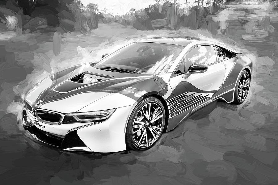 Bmw I Hybrid Sports Car Bw Photograph By Rich Franco - 2015 bmw i8 msrp