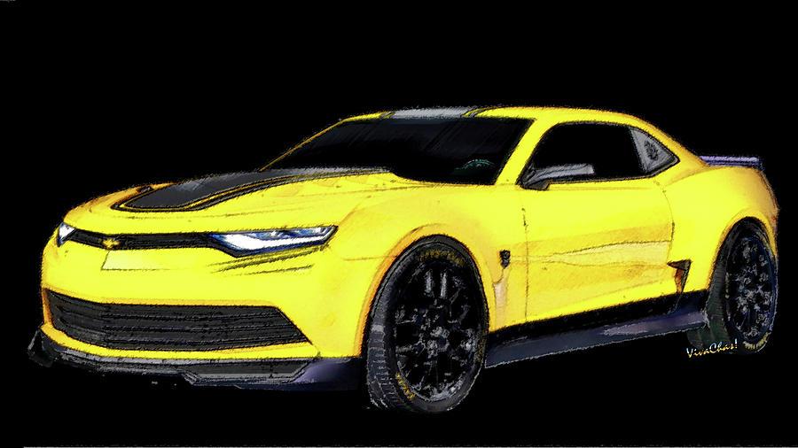 2016 Camaro - 6th Generation Chevy Camaro Digital Art by Chas Sinklier