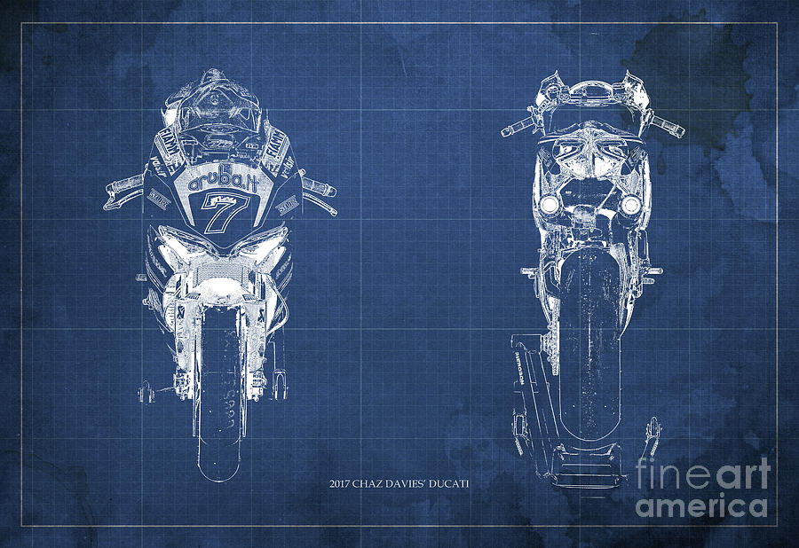 2017 chaz davies ducati motorcycle blueprint blue background gift green background digital art 2017 chaz davies ducati motorcycle blueprint blue background gift for men malvernweather Image collections