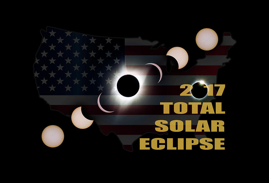 Total Photograph - 2017 Total Solar Eclipse Across America by David Gn