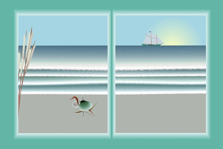 Window Digital Art - 24x36 Window On The Water by Steve Smyth
