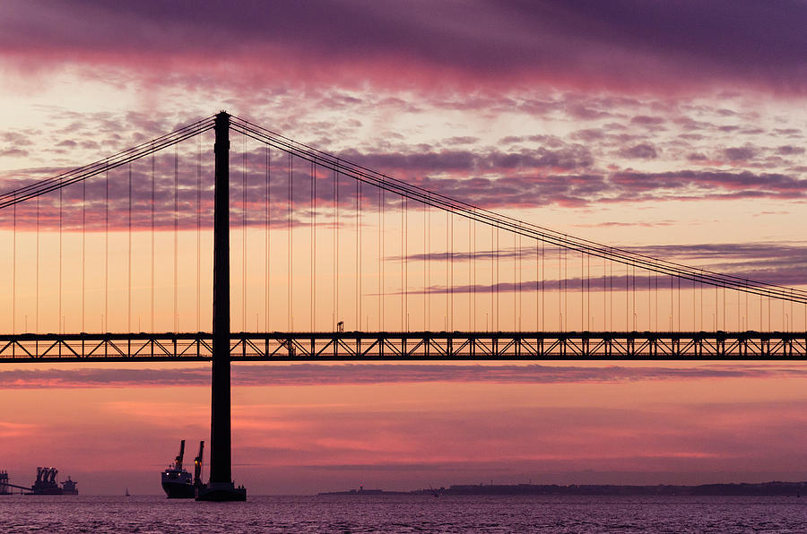 25 de Abril Bridge in Lisbon. by Pablo Lopez