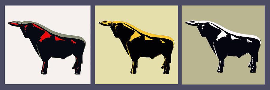 Bull Photograph - 3 Bulls by Slade Roberts