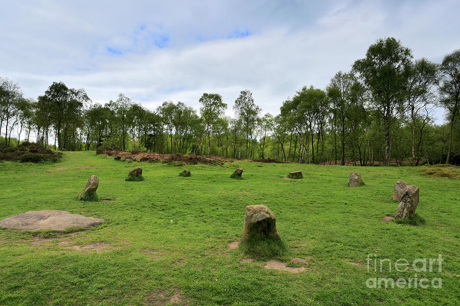 Stanton Moor Photograph - 9 Ladies Stone Circle, Stanton Moor, Peak District National Park by Dave Porter