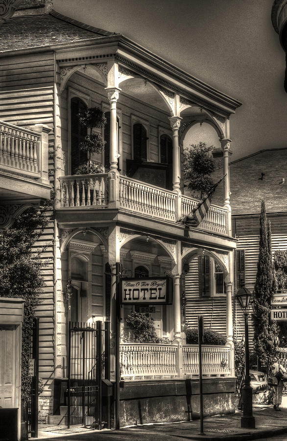 New Orleans French Quarter Photograph - 905 Royal Hotel by Greg and Chrystal Mimbs