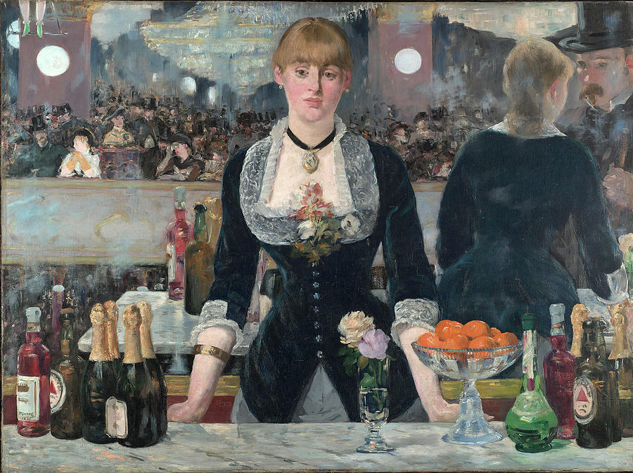 Manet Painting - Edouard Manet - A Bar At The Folies-bergere by Bishopston Fine Art