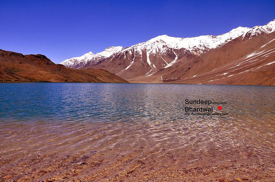 Beautiful Lake Photograph - A Beautiful Lake On Himalayas Of Unforgetable Himachal In Incredible IIndia by Sundeep Bhardwaj Kullu sundeepkulluDOTcom