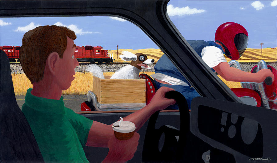 Highway Painting - A Dogs Life by Neil Woodward