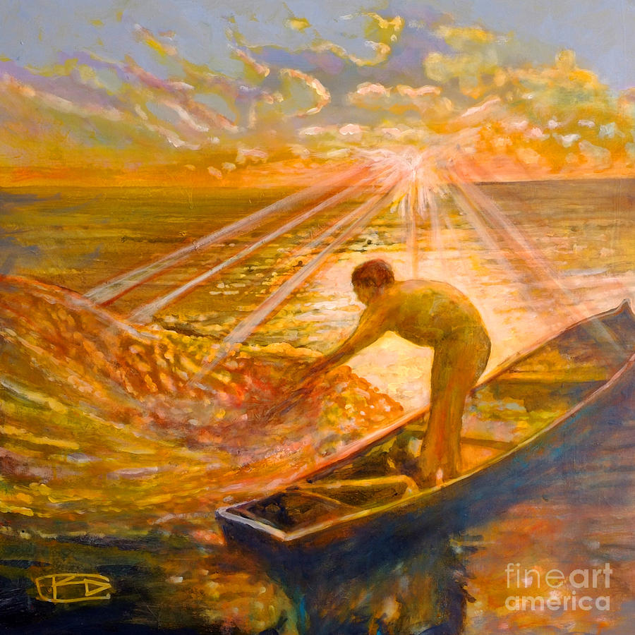 A Fisher Of Men Painting by Kip Decker