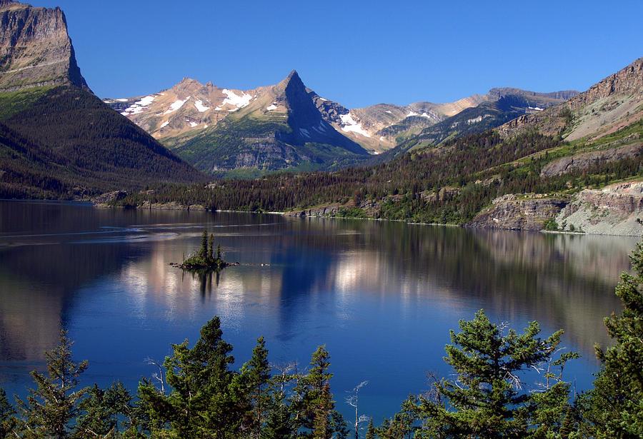 A Glacier Lake Photograph by Ann Keisling