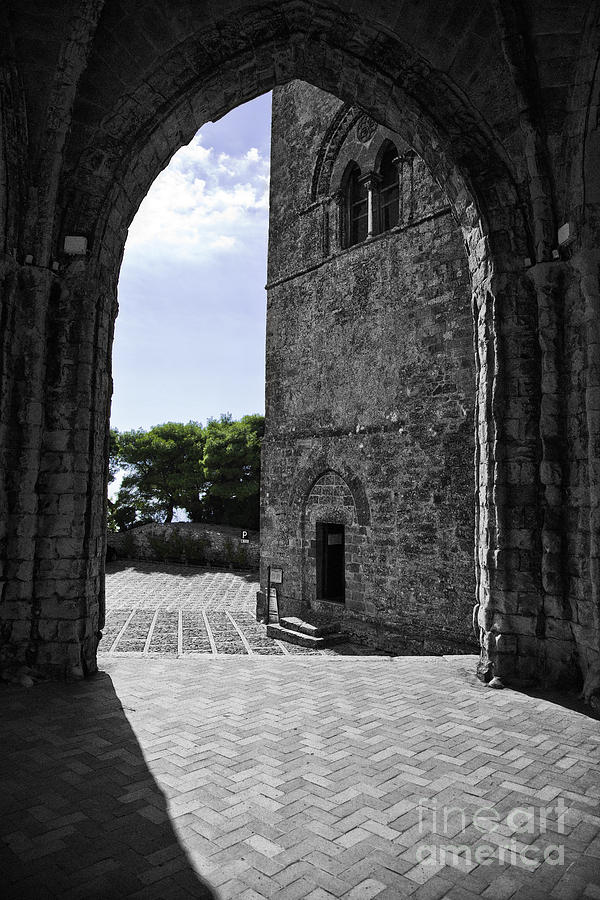 Arch Photograph - A Gothic View by Madeline Ellis