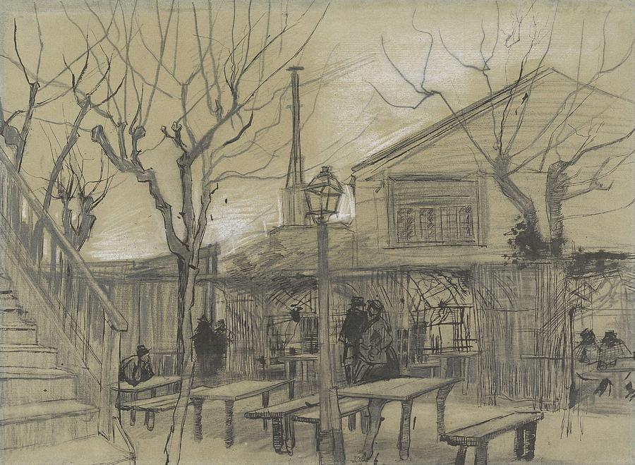 Nature Painting - A Guinguette Paris, February - March 1887 Vincent Van Gogh 1853 - 1890 by Artistic Panda