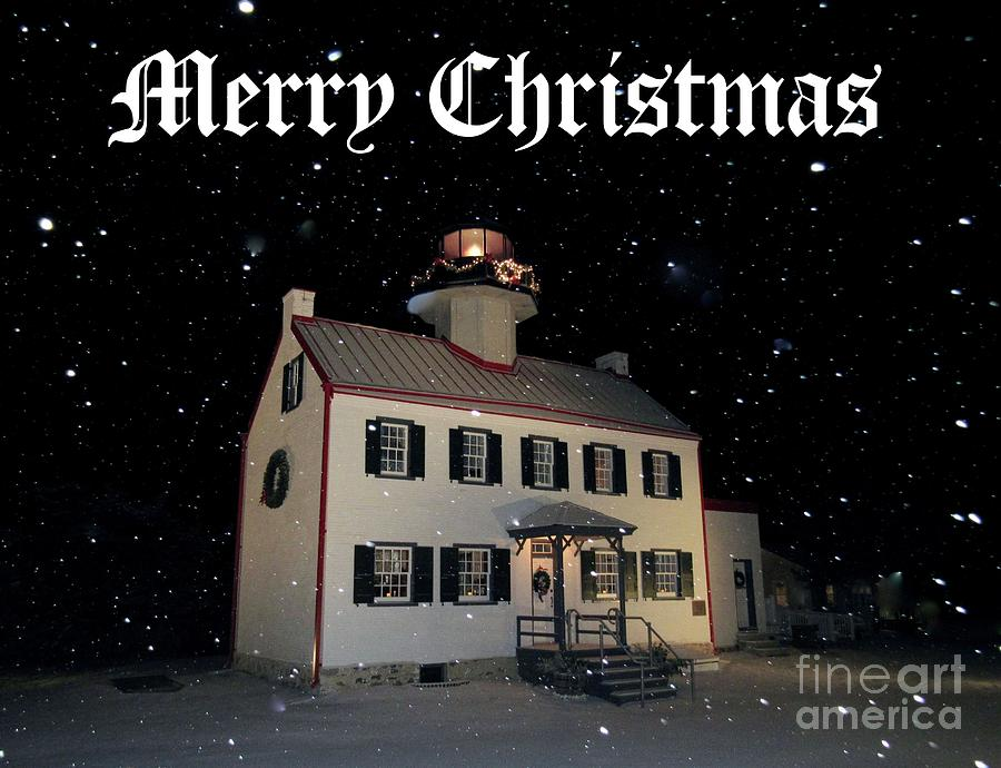 A Merry Christmas at East Point Lighthouse  by Nancy Patterson