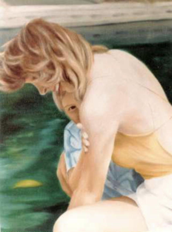 A Moment Of Shyness Painting by Steven Welch