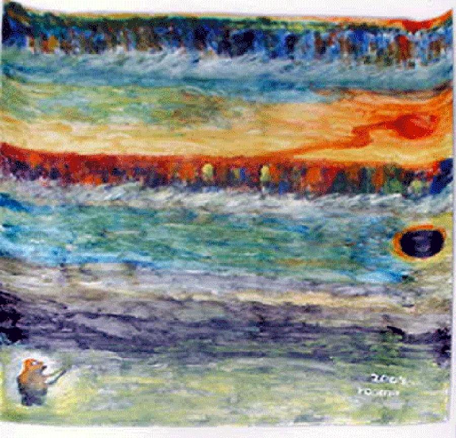 Miracle Painting - A New Dawn..  by Rooma Mehra